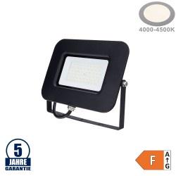 50W LED SMD Fluter Professional mit 70cm Kabel Schwarz Neutralweiß