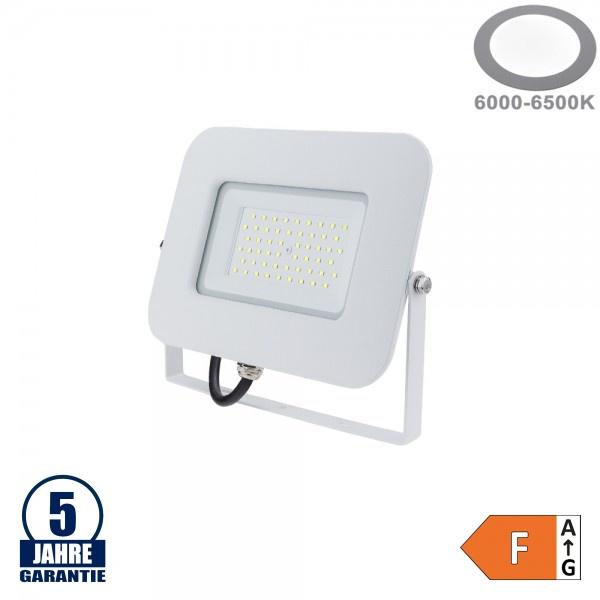 50W LED SMD Fluter Professional mit 70cm Kabel Weiß Kaltweiß