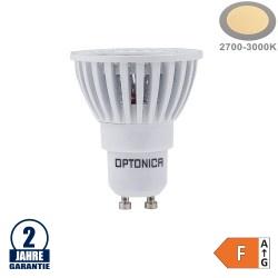 6W LED COB GU10 Spot Warmweiß Weiß