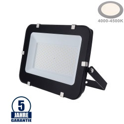 150W LED SMD Fluter Professional mit 100cm Kabel Schwarz Neutralweiß