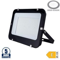 200W LED SMD Fluter Professional mit 100cm Kabel Schwarz Kaltweiß