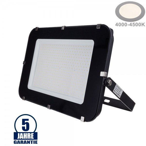 300W LED SMD Fluter Professional mit 100cm Kabel Schwarz Neutralweiß