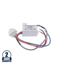 LED Bewegungsmelder Einbau Mini bis 100W Ø2-6m 120° IP20/IP65
