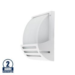 Wandlampe mit E27 Fassung Aluminium Matt Weiß