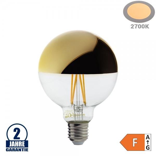 4W LED Spiegelkopf E27 G95 Birne Gold Glas Warmweiß