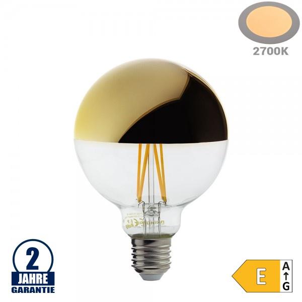 7W LED Spiegelkopf E27 G95 Birne Gold Glas Warmweiß