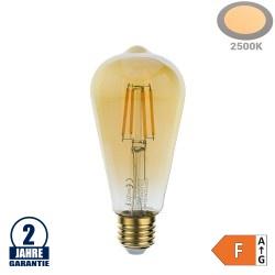 4W LED Vintage E27 ST64 Birne Gold Glas Warmweiß 2500K