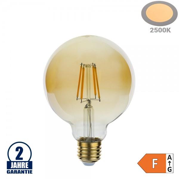 4W LED Vintage E27 G95 Birne Gold Glas Warmweiß 2500K