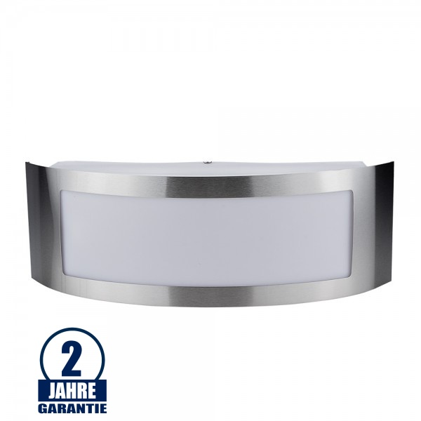 Wandlampe mit E27 Fassung Edelstahl Classic IP44