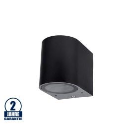 Wandlampe mit GU10 Fassung 1-fach Zylinder Schwarz IP44