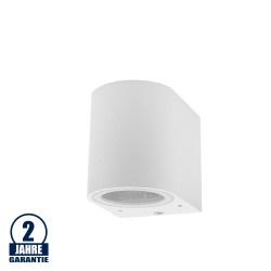 Wandlampe mit GU10 Fassung 1-fach Zylinder Weiß IP44