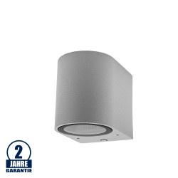 Wandlampe mit GU10 Fassung 1-fach Zylinder Silber IP44