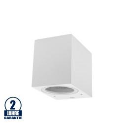 Wandlampe mit GU10 Fassung 1-fach Quader Weiß IP44