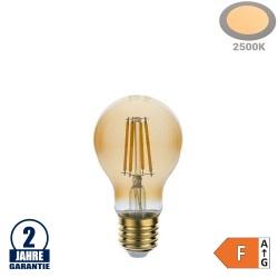 8W LED Vintage E27 A60 Birne Gold Glas Warmweiß 2500K