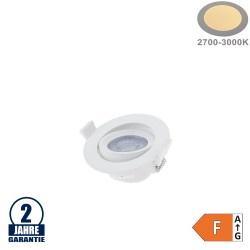 5W LED SMD Einbauleuchte Rund Schwenkbar Weiß Warmweiß