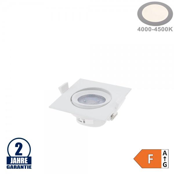 5W LED SMD Einbauleuchte Quadratisch Schwenkbar Weiß Neutralweiß