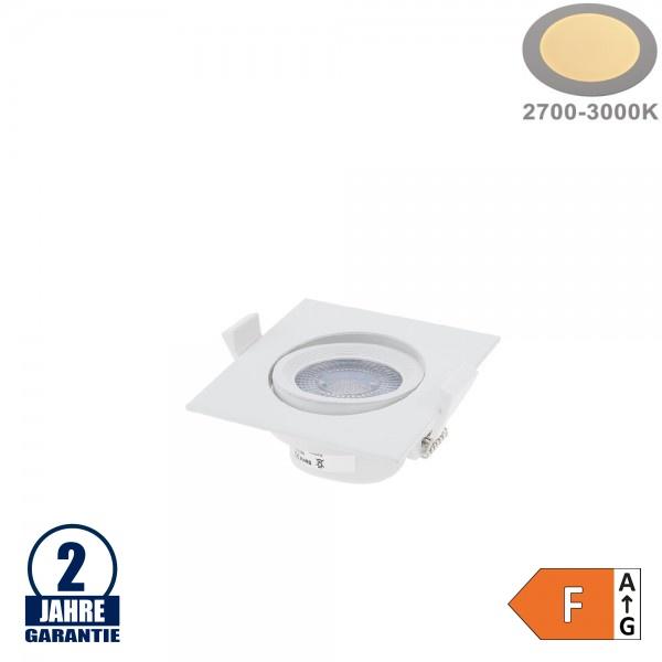 5W LED SMD Einbauleuchte Quadratisch Schwenkbar Weiß Warmweiß