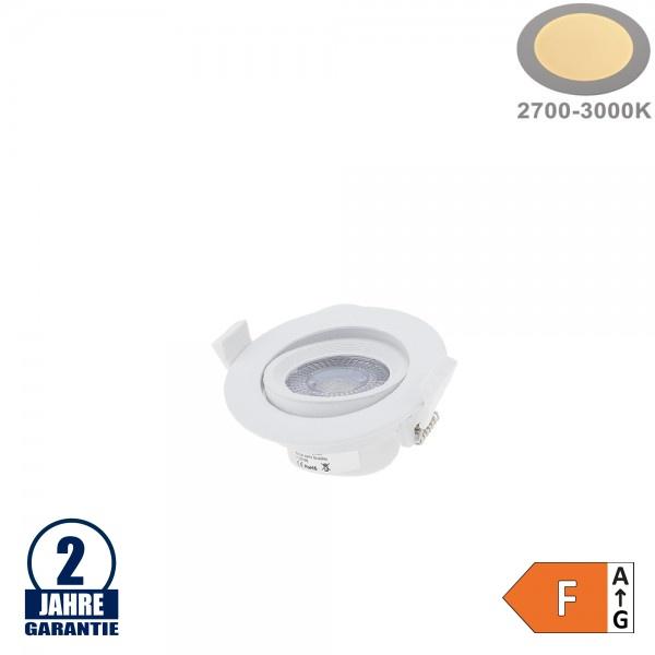 7W LED SMD Einbauleuchte Rund Schwenkbar Weiß Warmweiß