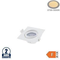 7W LED SMD Einbauleuchte Quadratisch Schwenkbar Weiß Warmweiß