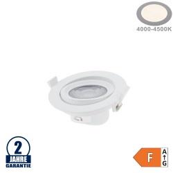 10W LED SMD Einbauleuchte Rund Schwenkbar Weiß Neutralweiß