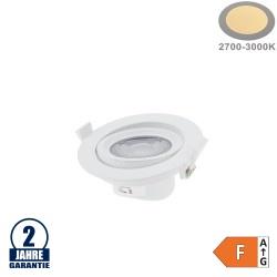 10W LED SMD Einbauleuchte Rund Schwenkbar Weiß Warmweiß
