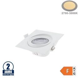 10W LED SMD Einbauleuchte Quadratisch Schwenkbar Weiß Warmweiß
