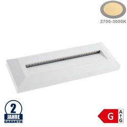 3W LED Treppenleuchte Rechteckig Weiß Warmweiß