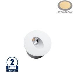 3W LED Treppenleuchte Einbau Rund Weiß Warmweiß