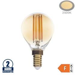 4W LED Vintage E14 G45 Birne Gold Glas Warmweiß 2500K