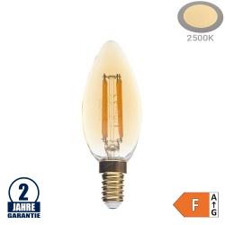 4W LED Vintage E14 C35 Kerze Gold Glas Warmweiß 2500K