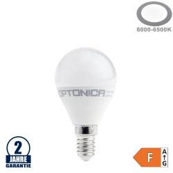 8,5W LED E14 G45 Birne Kunststoff Kaltweiß