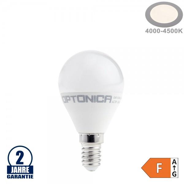 8,5W LED E14 G45 Birne Kunststoff Neutralweiß