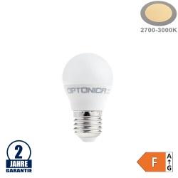 8,5W LED E27 G45 Birne Kunststoff Warmweiß