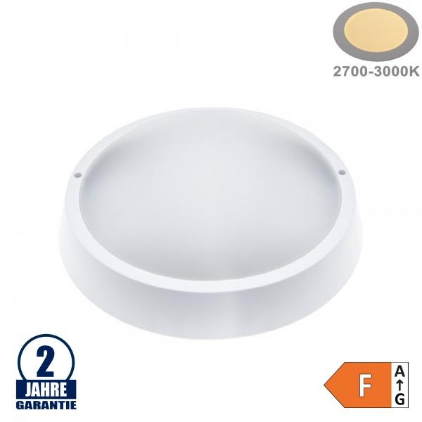 8W LED Aufbau Leuchte Kunststoff Rund Warmweiß IP65