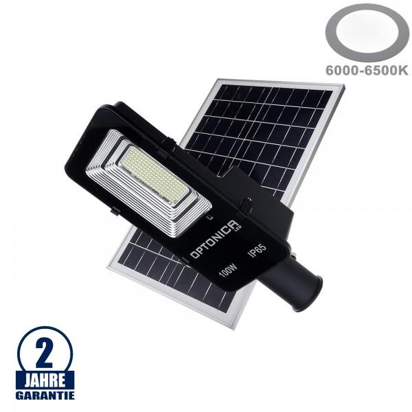 100W LED Solar Straßenleuchte 6000K IP65