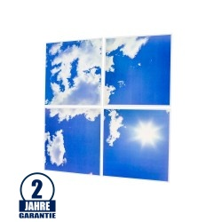 45W 60x60cm LED 3D Sky Panel 6000K 4er Set