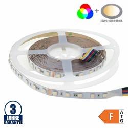 60SMD/m 17W/m 24V Professional Led Streifen RGB+CCT 5m Rolle