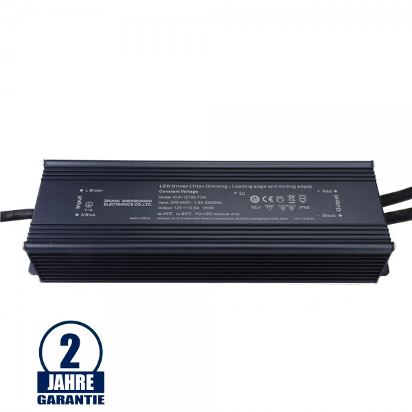 SC Power 150W 12V DC Metall Netzteil Dimmbar IP66