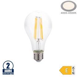 12W LED FILAMENT E27 A65 Birne Glas 1500 Lumen Neutralweiß