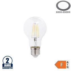 8W LED FILAMENT E27 A60 Birne Glas 810 Lumen Kaltweiß