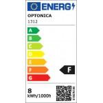 8W LED FILAMENT E27 A60 Birne Glas 810 Lumen Warmweiß