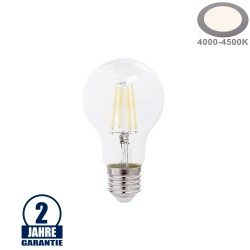 10W LED FILAMENT E27 A60 Birne Glas 1350 Lumen Neutralweiß