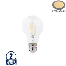 10W LED FILAMENT E27 A60 Birne Glas 1350 Lumen Warmweiß