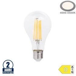 14W LED FILAMENT E27 A65 Birne Glas 2100 Lumen Neutralweiß