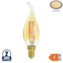4W LED Vintage E14 C35 Windstoßkerze Gold Glas Warmweiß 2500K