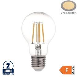 6W LED FILAMENT E27 A60 Birne Glas 630 Lumen Warmweiß