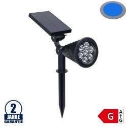 1,5W LED Solar Gartenleuchte 6V Blau IP65
