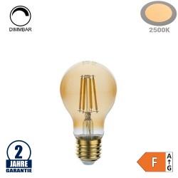 8W LED Vintage E27 A60 Birne Gold Glas Warmweiß 2500K Dimmbar