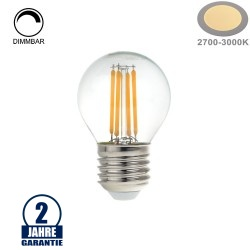 4W LED Vintage E27 G45 Birne Glas Warmweiß Dimmbar