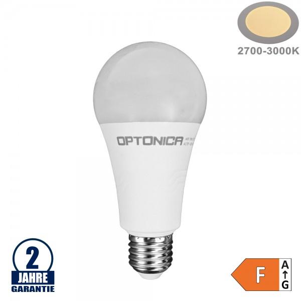 19W LED E27 A65 Birne Kunststoff Warmweiß